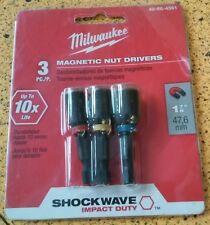 Milwaukee 49 66 4561 Shockwawe 1 78 Inch Magnetic Nut Driver Set