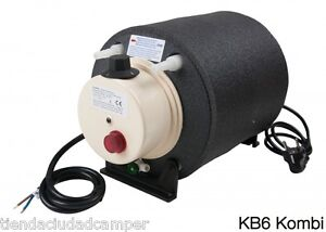 Calentador-Agua-Elgena-KB6-Kombi-12v200W-220v-660W-Boiler-Caliente-VW-T3-T4-T5