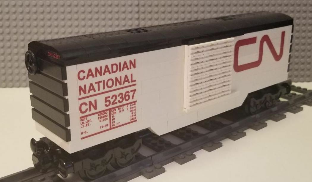 Lego Train Boxcar Canadian National  -- PLEASE READ ITEM DESCRIPTION --
