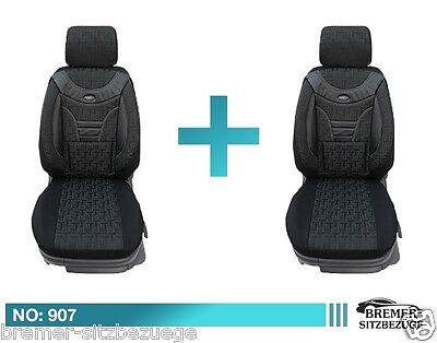 Doppelbank 907 MAß Schonbezüge Sitzbezüge VW Crafter Mercedes Sprinter Fahrer