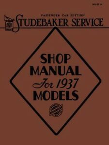 Miraculous 1937 Studebaker Shop Service Repair Manual Book Engine Drivetrain Wiring Cloud Funidienstapotheekhoekschewaardnl