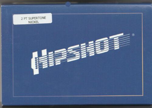 Hipshot® SuperTone Bass Bridge~4-String 2-Hole~67 To 73 Gibson Bass~Nickel~New