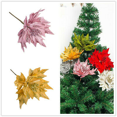 6x Maple Leaf Wood Christmas Tree Wedding Party Hanging Decoration Ornament