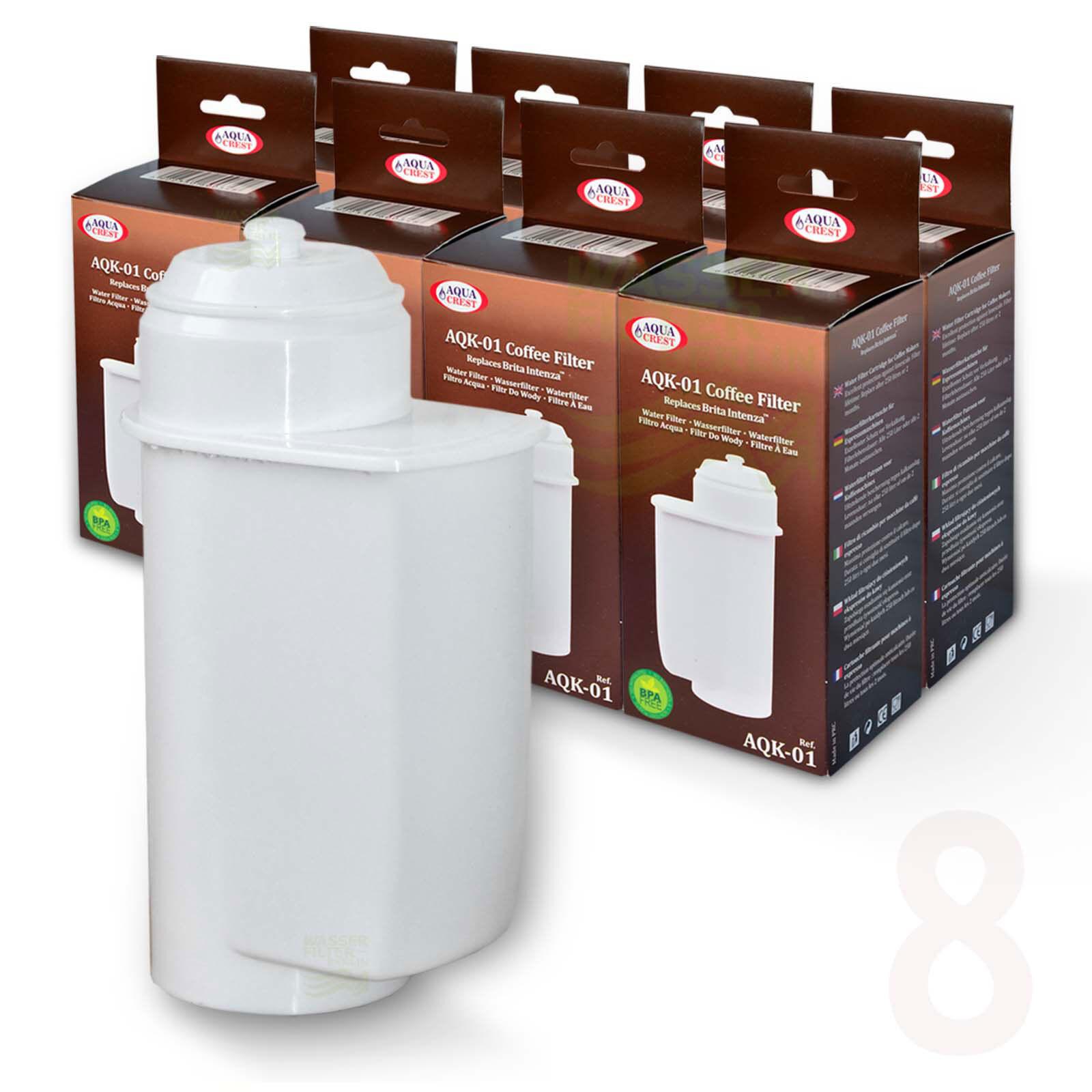 8x Brita Intenza Compatible Filtre à Eau F.Bosch Siemens Neff Gaggenau Café