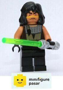 sw333 Lego Star Wars 7964 - Jedi Quinlan Vos Minifigure w Lightsaber - New