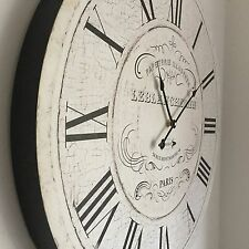 Vintage Wooden French Paris Wall Clock Round Clock Large Station Wall Clock 60cm