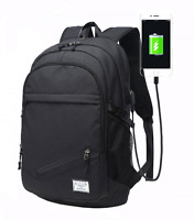 Water Resistant Laptop Backpack, Lightweight Travel Bag Pack With W/ Usb Port