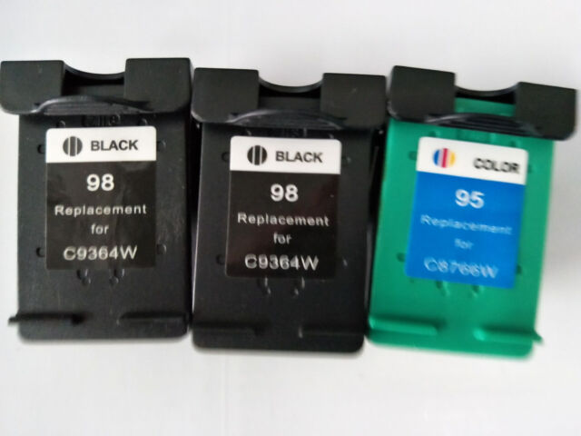 3x Black & Color Remanufactured Ink Cartridge for HP 98 C9364WN HP 95 C8766WN