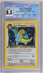 CGC-8-5-NM-Mint-1st-Edition-Dark-Dragonite-Holo-5-82-Team-Rocket-2000-Pokemon