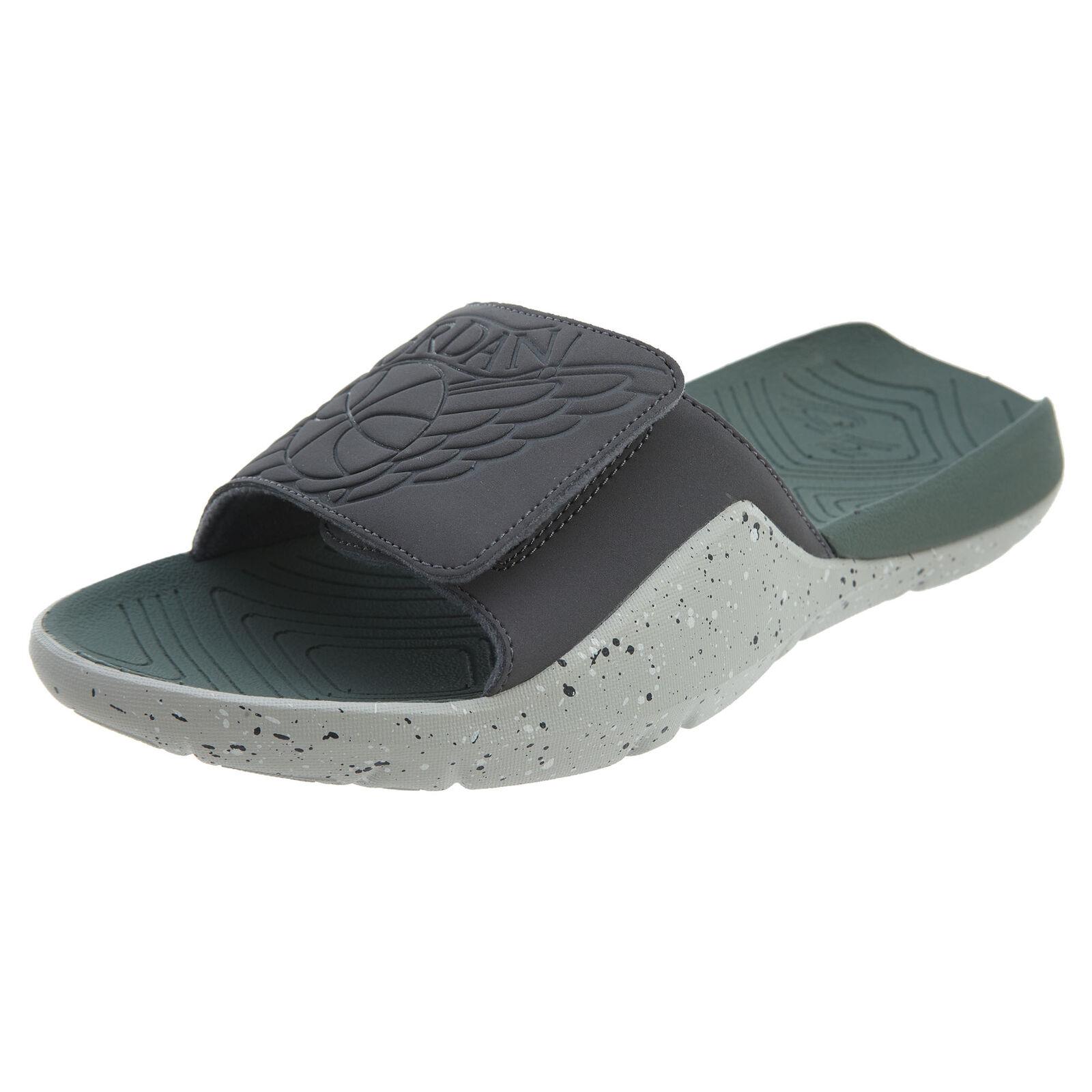 Jordan Hydro 7 para hombres AA2517-035 oscuro Tech gris Arcilla verde Slide Sandalias Tamaño 10