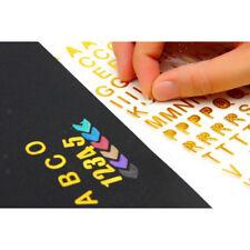 6 pezzi su lettere adesive trasparenti in vinile, alfabeto A-Z, numeri