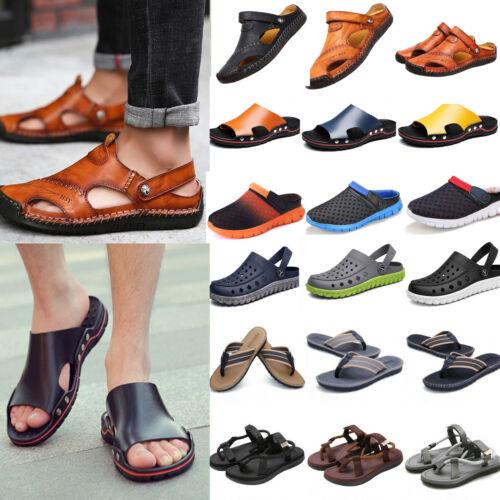 Summer Men Sandals Sport Slides Beach Slippers Sandals Shoes Slip On Flip Flops
