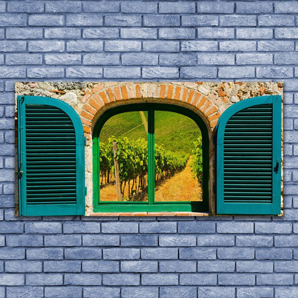 Wandbilder Glasbilder Druck auf Glas 140x70 Fenster Landschaft