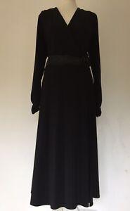 Vestido-de-noche-Gina-Bacconi-nuevo-elegante-negro-elastico-ocasion-coctel-18
