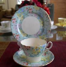 SHELLEY Fine Bone China     **MELODY CHINTZ TRIO**   Pattern# 12974