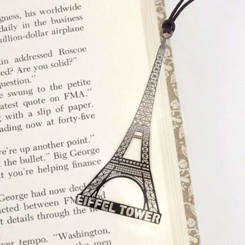 Metal bookmark with string EIFFEL TOWER France paris souvenir decor light n thin