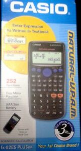 Casio FX-82 ES PLUS BK Scientific Calculator Fx 82ES - Brand New Free Shipping