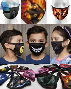 Kids, Adults ,Teens Fabric Face Mask Protective mouth cover reusable washable,