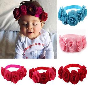 New Kids Baby Girl Toddler Flower Headband Hair Band Headwear Hair Accessories