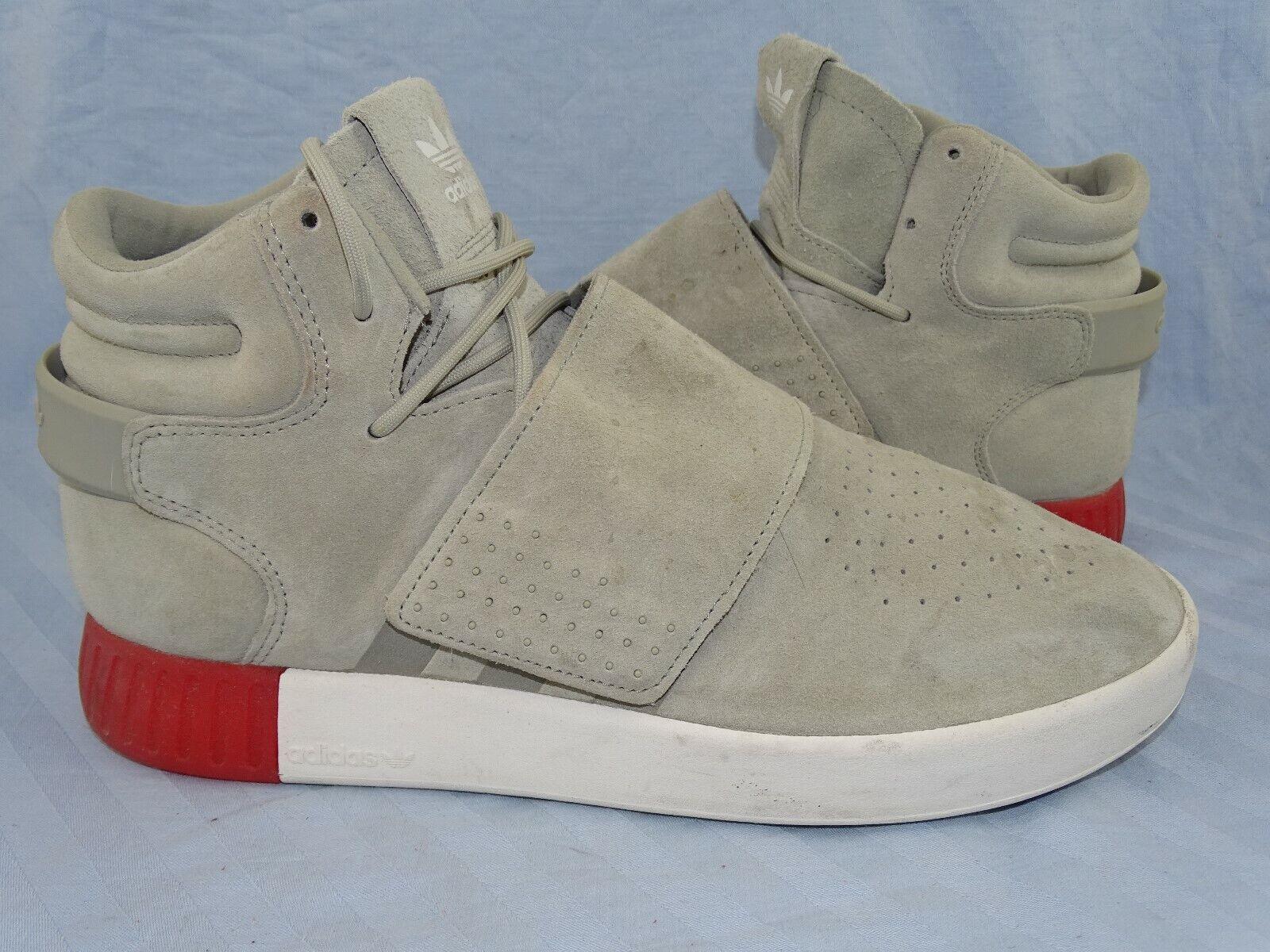 Cuidados adidas tubular Invader Strap gris rojo cortos mid Hi calzado deportivo 44
