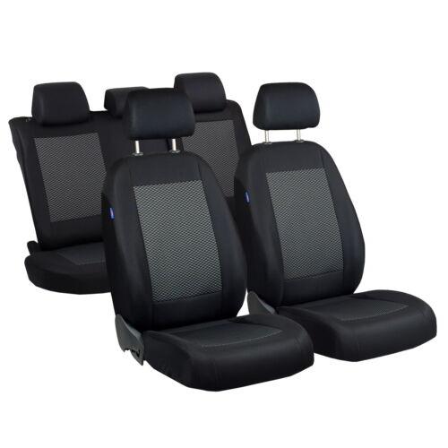 Negro-gris triángulos fundas para asientos para nissan x trail asiento del coche referencia completamente