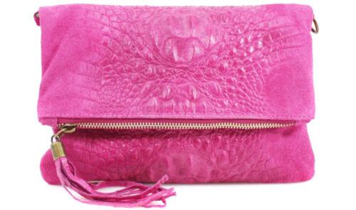 Fashion Ladies SnakeSkin Suede Leather Clutch Bag Womens Detached Shoulder Handb