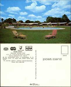 Palms-Court-motel-Waycross-Georgia-GA-US-1-amp-23-swimming-pool-1970s-postcard