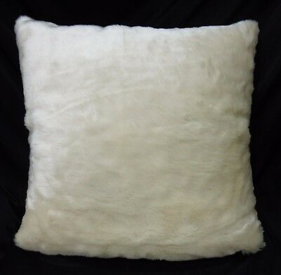 Fn863a Off White Soft Thick Long Faux Fur Pillow Case//Cushion Cover *Custom Size