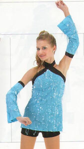 Shakedown Dance Costume Sequin Top Shorts and Sleeves Clearance Child Small