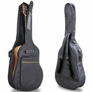 40-034-41-034-Acoustic-Guitar-Double-Straps-Padded-Guitar-Soft-Case-Gig-Bag-BackpackAH
