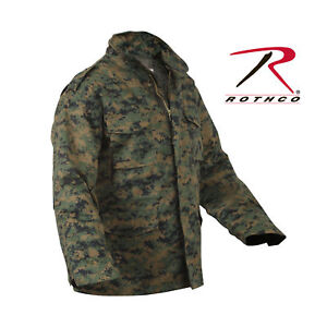 15eaa424e42f3 ROTHCO 8590 WOODLAND DIGITAL CAMO MENS M65 FIELD JACKET WITH QUILTED ...