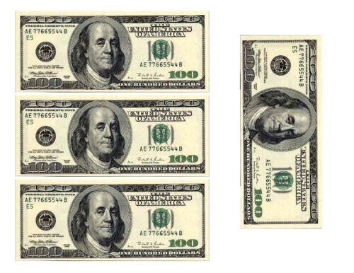 One hundred dollar bill replicas money edible cake image cake decoration topper