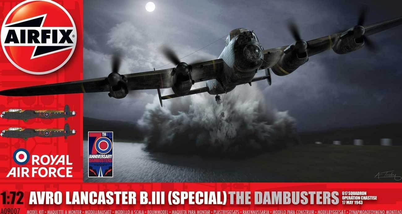 Airfix avro lancaster par beispiel iii sp   der dambuster 671.squad.1 72