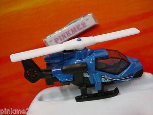 2014-BATTLE-MISSION-Design-MISSION-HELICOPTER-Blue-Black-Copter-Loose-MATCHBOX