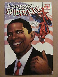 Amazing-Spider-Man-583-Marvel-Comics-1963-Series-Obama-4th-Print-Variant-9-4-NM