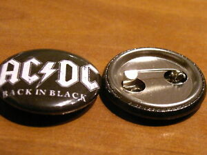 Black Leather Shank Back Button - 40L/25mm - Leather