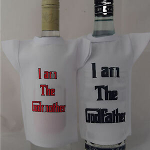 Bottle-miniture-T-Shirt-set-for-Godmother-amp-Godfather-ideal-fun-gift