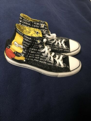 2013 Bart Simpson Converse All Star Sneaker Size 1