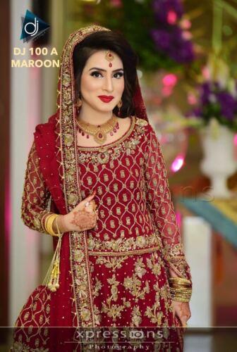 LONG CHOLI LEHENGA BLOUSE WEDDING BRIDAL PAKISTANI INDIAN LATEST LENGHA DRESS