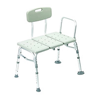 Durable Drive Medical Three Piece Transfer Shower Tub Mobility Aid Bench, Gray