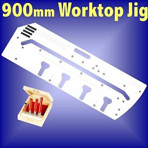 900mm Kitchen Worktop Jig and 4pc TCT Router cutter bit set template ...