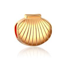 18K gilded shell fit European Charm Bracelet pendant Chain #F329