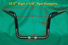 """12.5"""" Black Ape Hanger 1-1/4"""" Handle Bar fit Harley Davidson Road King & Touring"""