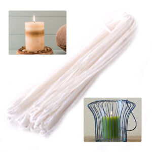 Details about 10 Yard Traditional Candle Wax Wick Candle Making Flat  Braided Cotton Core DIY