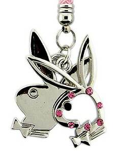 Playboy-Handyanhaenger-Double-Bunny-Pink-Mobile-Phone-Charm