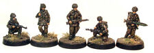 TQD PP3 20mm Diecast WWII Polish Paratroopers Wearing Helmets Including Officer