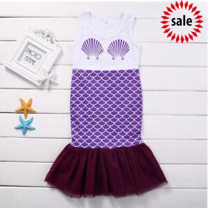 SALE-Summer-Girls-Kids-Beauty-Mermaid-Shell-Princess-Dress-Party-Cosplay-Dress