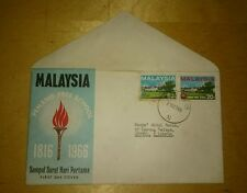 Malaysia Penang Free School 150 years 1816-1966 2v stamp FDC No brochure