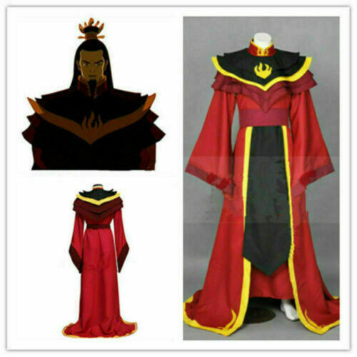 Avatar The Legend of Aang The Last Airbender Fire Lord Ozai Cosplay Costume