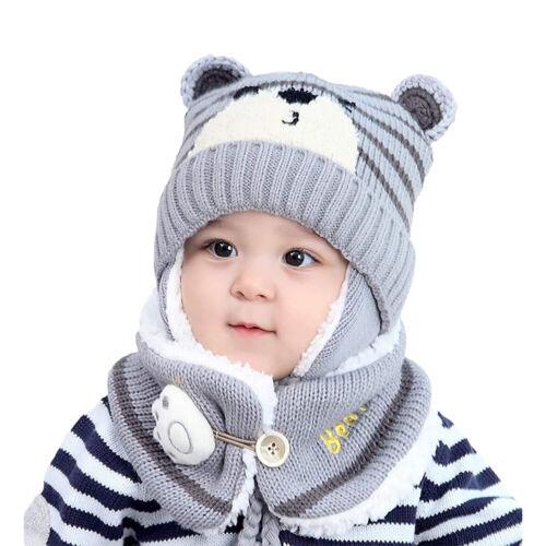Kindermütze Baby Wintermütze Strickmütze Schlupfmütze Schalmütze Wärmer Hüte Neu